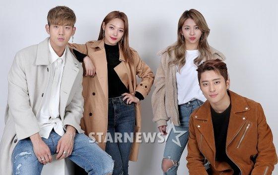 KARD(비엠, 전소민, 전지우, 제이셉, 왼쪽부터) /사진=김창현 기자