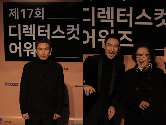 설경구(사진 왼쪽)와 이제훈, 나문희/사진제공=디렉터스컷 어워즈