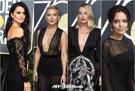 페넬로페 크루즈, 케이트 허드슨, 마고 로비, 안젤리나 졸리(사진 맨 왼쪽부터 오른쪽으로)/AFPBBNews=뉴스1