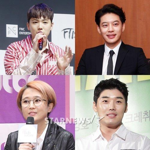 (왼쪽 위부터 시계방향) 이홍기, 세븐, 권혁수, 송은이 /사진=스타뉴스