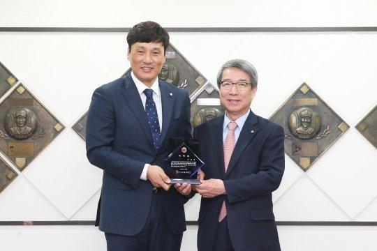 이승엽이 KBO 홍보대사로 위촉됐다 / 사진제공=KBO