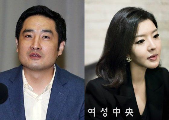 강용석(왼쪽)과 김미나/사진=스타뉴스, 여성중앙