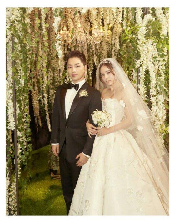 지난 3일 결혼한 태양-민효린 부부 /사진=YG엔터테인먼트