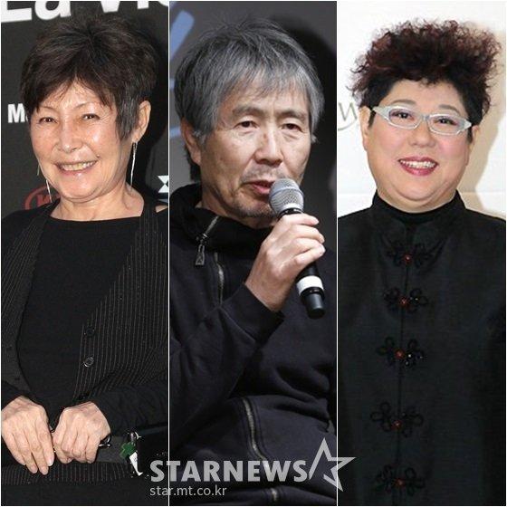 윤복희(왼쪽부터), 최백호, 양희은/사진=스타뉴스