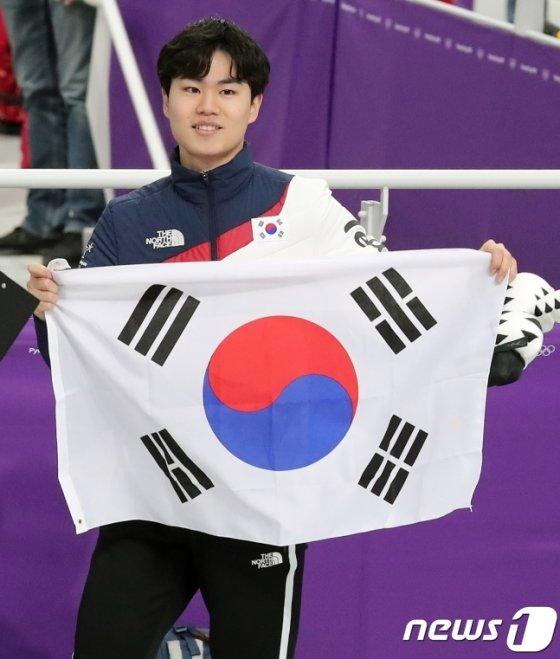 스피드스케이팅 남자 1500m 동메달을 따낸 김민석. /사진=뉴스1