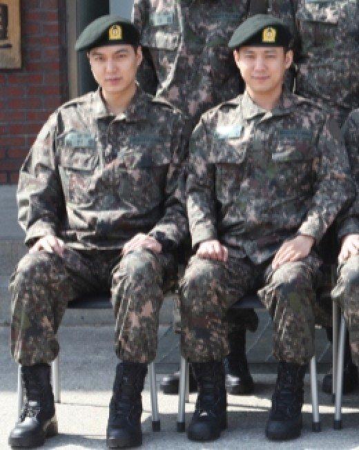 이민호, 서준영/사진=육군훈련소 홈페이지