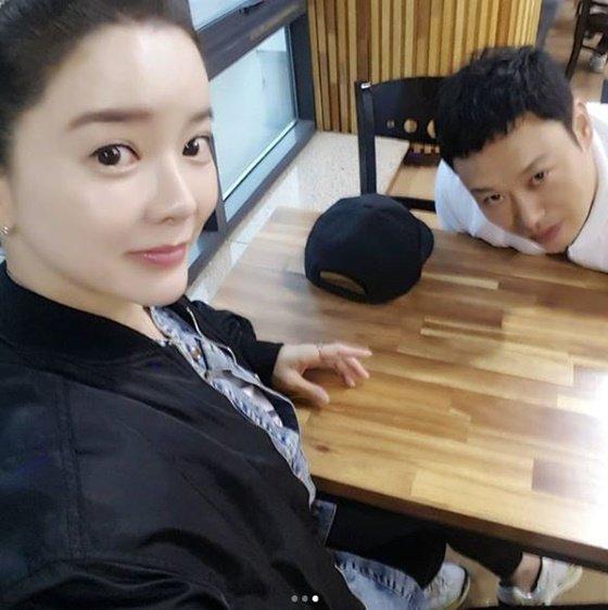 배우 최은주, 헬스트레이너 양치승/사진=최은주 인스타그램