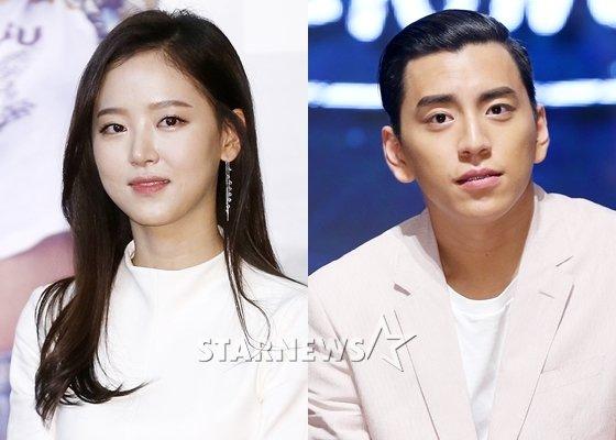 강한나(왼쪽)와 왕대륙/사진=스타뉴스