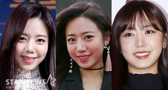 에이핑크 김남주. 맨 왼쪽이 13일 행사 참석 사진. 가운데는 지난해 11월 2017 AAA 참석 당시 모습. 마지막 사진은 2017년 3월 사진이다. /사진=스타뉴스