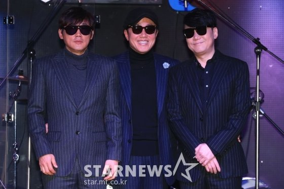 (왼쪽부터) 소방차 김태형 정원관 이상원 /사진=이기범 기자