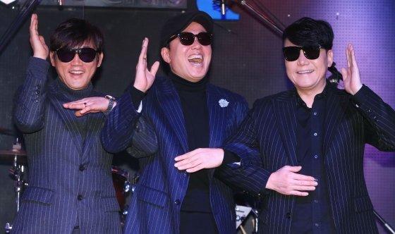 (왼쪽부터) 소방차 멤버 김태형, 정원관, 이상원 /사진=이기범 기자