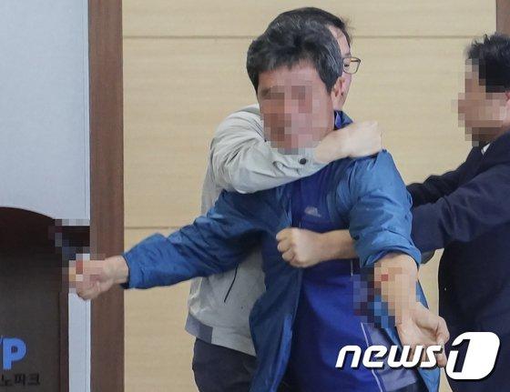 원희룡 제주지사 예비후보(무소속) 폭행 사건/사진=뉴스1