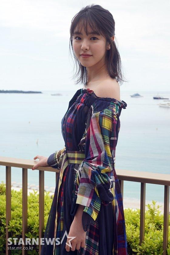 영화 \'아사코\'로 제71회 칸국제영화제를 찾은 일본 배우 카라타 에리카 / 사진=김현록 기자