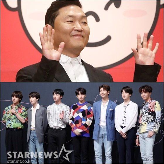 싸이(위)와 방탄소년단 /사진=스타뉴스