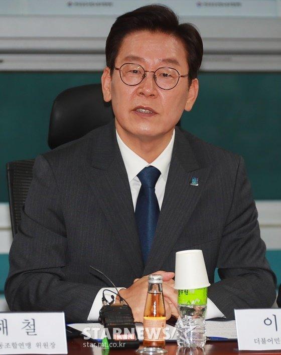 배우 김부선과 주진우 기자 통화(녹취)가 공개되면서 파문이 커지고 있다. 이재명 더불어민주당 경기도지사 후보(사진)는 이에 대해 법적 대응하겠다고 밝혔다./사진=머니투데이