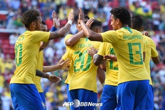 브라질 축구 대표팀./AFPBBNews=뉴스1