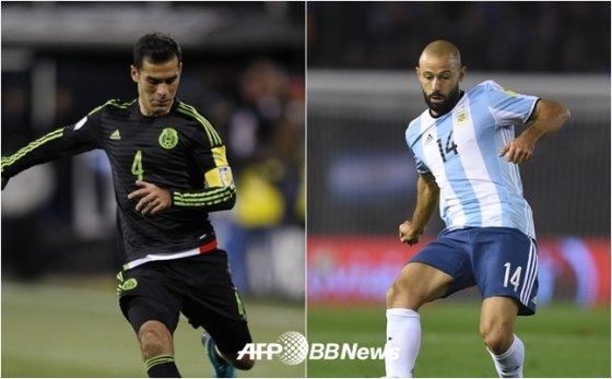 라파엘 마르케스, 하비에르 마스체라노(왼쪽부터) /AFPBBNews=뉴스1