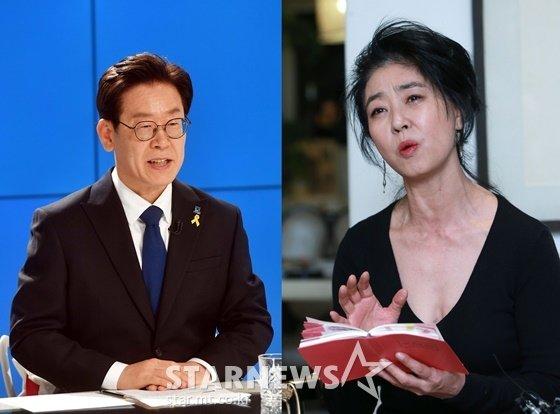 이재명 더불어민주당 경기도지사 후보, 배우 김부선/사진=머니투데이, 스타뉴스