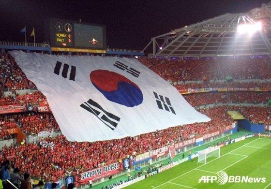 2002 한일 월드컵 당시 붉은악마 모습 /AFPBBNews=뉴스1
