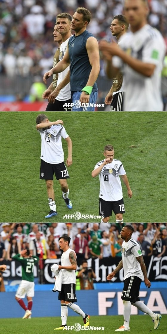 독일의 멕시코전 패배 직후 모습 /AFPBBNews=뉴스1