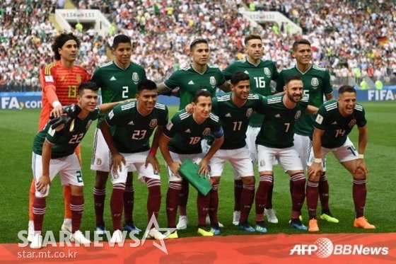 멕시코 축구 대표팀 /AFPBBNews=뉴스1