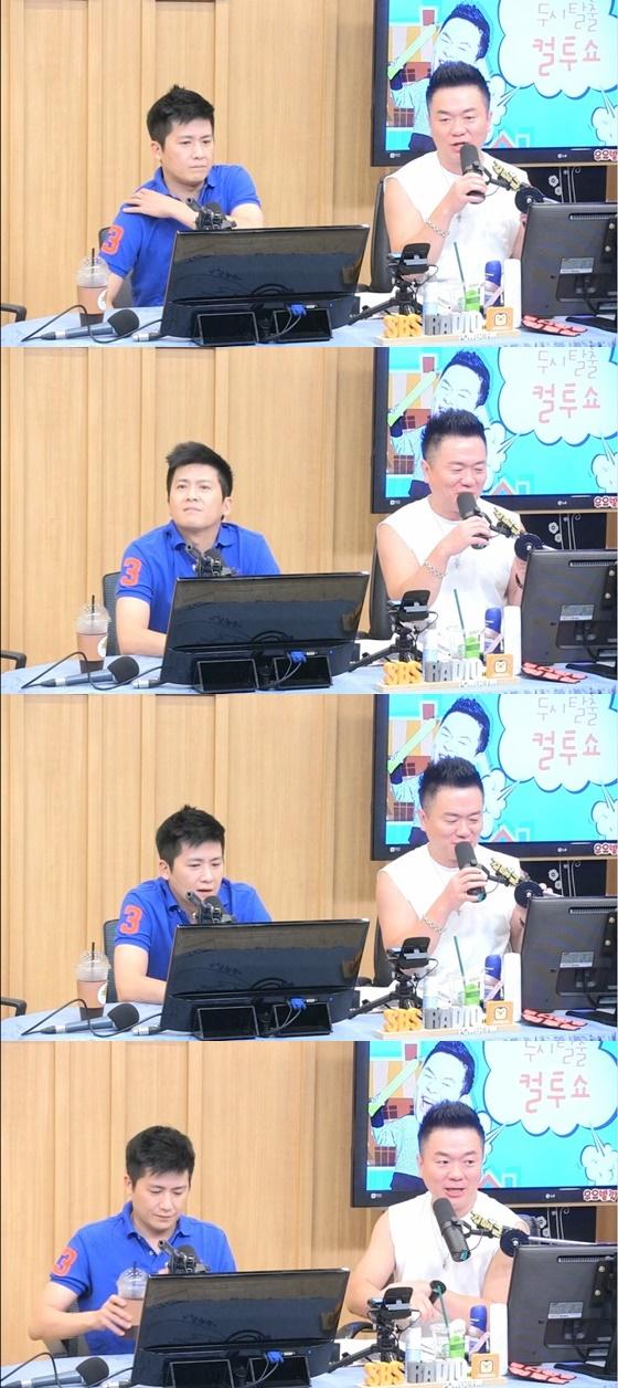 가수 홍경민(왼쪽)과 개그맨 김태균(오른쪽) /사진= SBS 라디오 파워FM '두시탈출 컬투쇼' 보는 라디오 방송화면