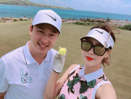 첫 만남부터 골프는 김승현부부의 중요한 공통분모였다./사진= 김승현 제공