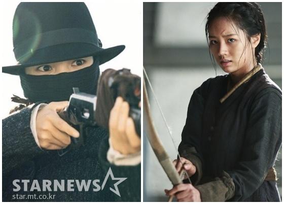 [김수진의 ★공감] 총 든 태리 & 활 든 혜리