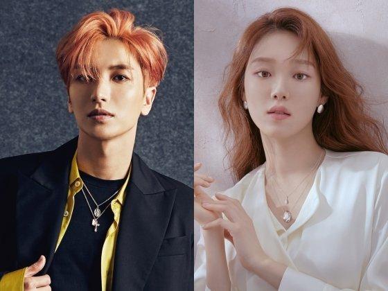2018 AAA MC 이특과 이성경 /사진제공=SM엔터테인먼트, YG엔터테인먼트
