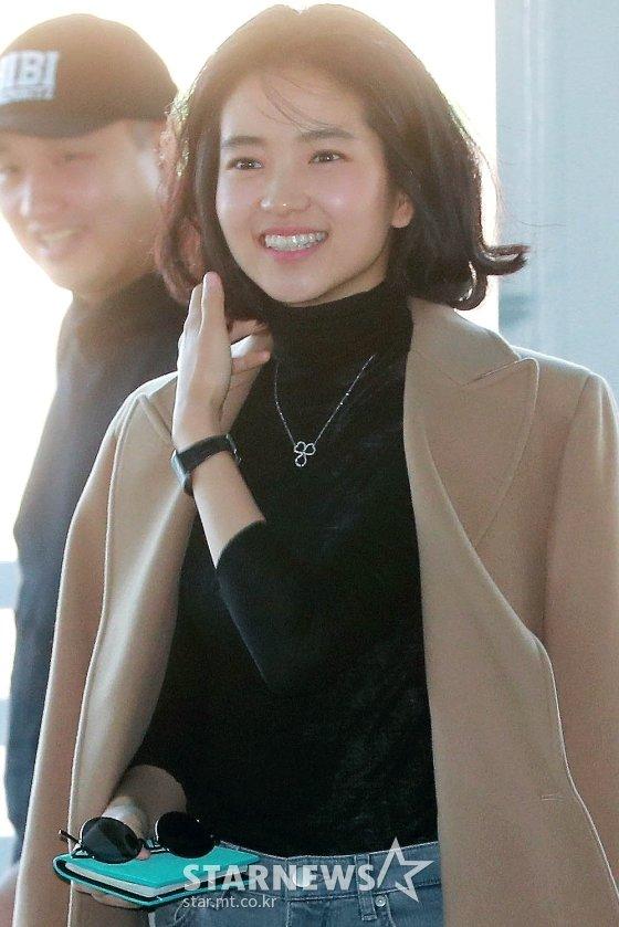 배우 김태리가 단발머리로 변신했다. / 사진=임성균 기자