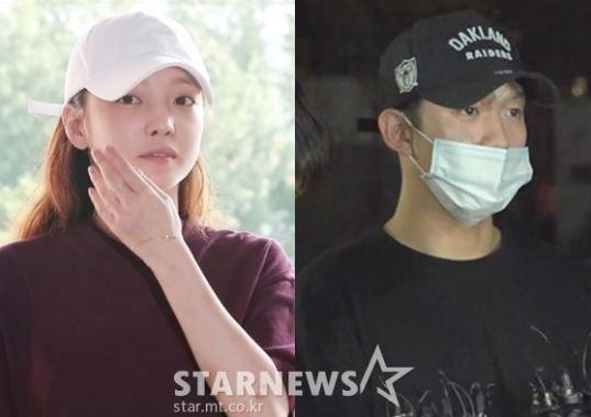 걸그룹 카라 출신 가수 겸 배우 구하라(왼쪽)와 구하라의 전 남자친구 최종범 /사진=스타뉴스