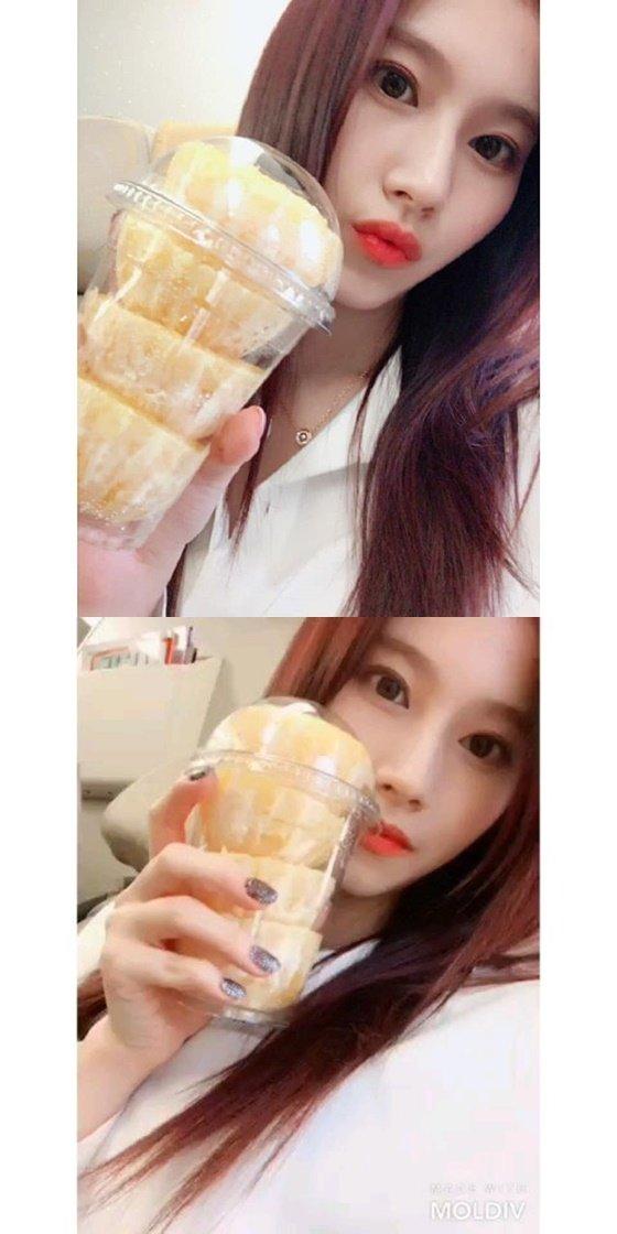 걸그룹 트와이스 멤버 사나 /사진=트와이스 공식 인스타그램