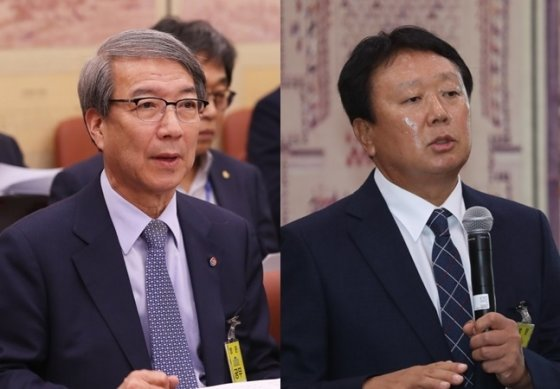 정운찬(왼쪽) KBO 총재와 선동열 야구대표팀 전임감독. /사진=뉴스1