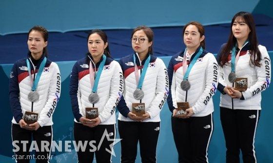 여자 컬링 대표팀./사진=김창현 기자