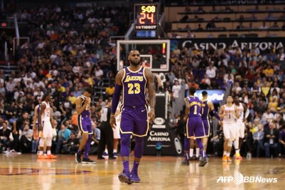 미국프로농구(NBA) LA레이커스의 르브론 제임스. / 사진=AFPBBNews=뉴스1