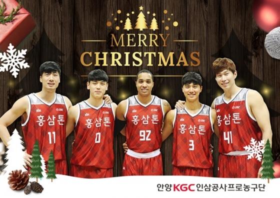 안양 KGC 인삼공사가 올 시즌에도 크리스마스 유니폼을 입는다. /사진=안양 KGC 제공