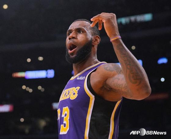 미국프로농구(NBA) LA 레이커스의 르브론 제임스. / 사진=AFPBBNews=뉴스1