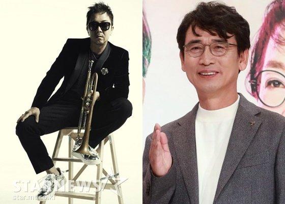 윈터플레이 이주한(왼쪽)과 유시민 노무현재단 이사장 /사진=스타뉴스
