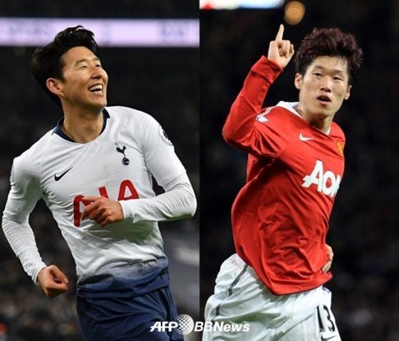 손흥민(왼쪽)과 박지성 /AFPBBNews=뉴스1