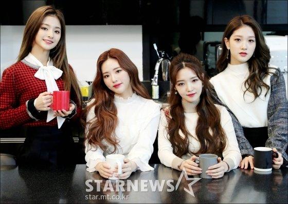 걸그룹 프로미스나인 이나경, 박지원, 노지선, 이서연/사진=김창현 기자