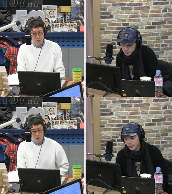 방송인 김영철(왼쪽), 가수 에릭남 /사진=SBS 라디오 파워FM '김영철의 파워FM' 보는 라디오 캡처