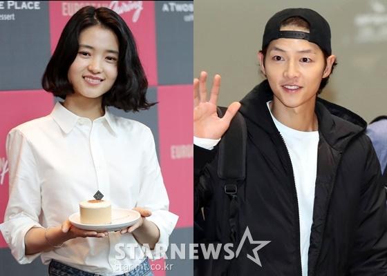 배우 김태리(왼쪽), 송중기 /사진=김창현 기자, 임성균 기자