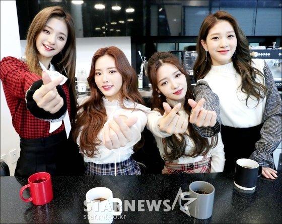 걸그룹 프로미스나인 이나경, 박지원, 노지선, 이서연(왼쪽부터)/사진=김창현 기자