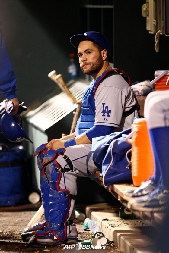 친정 다저스로 컴백한 러셀 마틴. 사진은 2009년 다저스 시절 모습. /AFPBBNews=뉴스1