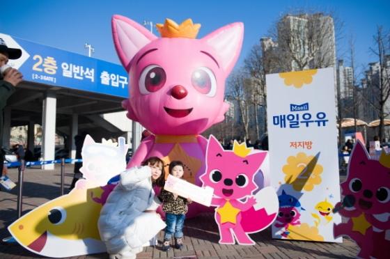 서울 삼성이 13일 매일우유 2%와 함께하는 브랜드데이를 개최한다. /사진=서울 삼성 제공