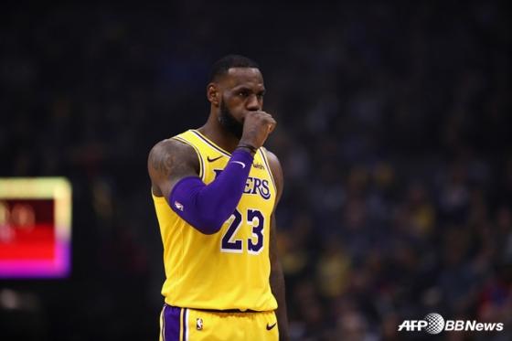 LA 레이커스의 르브론 제임스. / 사진=AFPBBNews=뉴스1