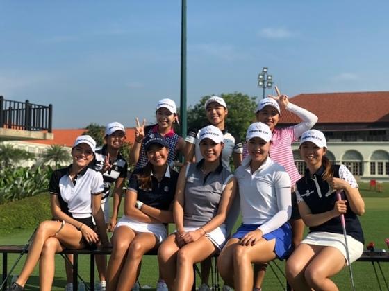 왼쪽 위부터 이자벨라, 아야카, 빳따마키시꿀, 샤오링, 루이자, 석수컨트, 예저우, 켈리, 후타바./사진=KLPGA