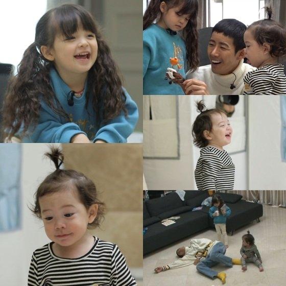 지난 1월 13일 방송된 \'해피선데이-슈퍼맨이 돌아왔다\'에서 공개된 광희와 나은-건후 남매의 만남/사진=KBS 2TV \'해피선데이-슈퍼맨이 돌아왔다\'