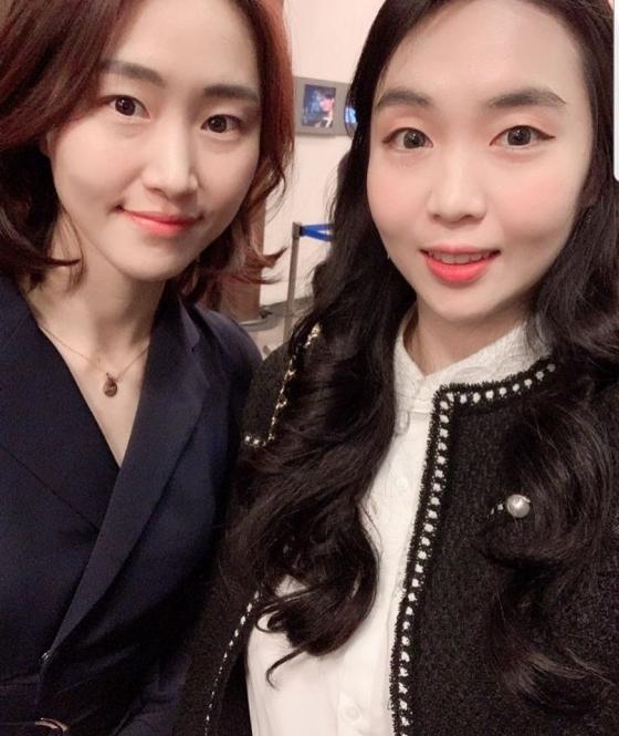 KB스타즈 염윤아(왼쪽), KEB 하나은행 백지은. /사진=염윤아 인스타그램