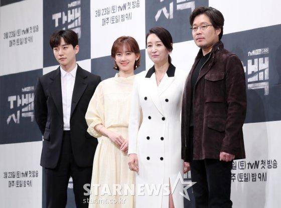 (왼쪽부터)이준호, 신현빈, 남기애, 유재명 /사진=김휘선 기자